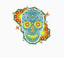 skeleton flowers peace  Unisex T-Shirt
