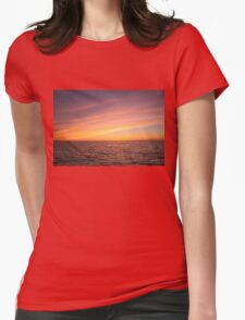 Sunset over Lake Ontario Womens Fitted T-Shirt