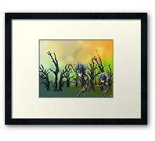 Pencil and Pen drawing Forest Creatures Framed Print