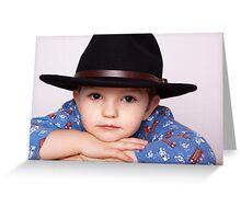 Wee Man, Big Hat Greeting Card