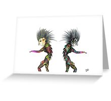 Pencil Drawing Troll figures Greeting Card