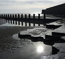 Behind the harbour wall at Bridlington by Anna Myerscough