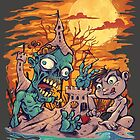 Zombie At The Beach  by Brian Allen