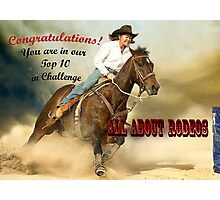 Banner, Top Ten Winner, All About Rodeos Photographic Print