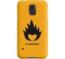 Flammable heart Samsung Galaxy Case/Skin