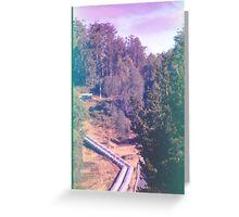 Tarreleah Pipeline, Expired Film. Greeting Card