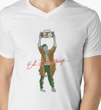 Eat Brainything Mens V-Neck T-Shirt