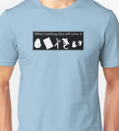 Rock. Paper. Scissors. Lizard. Spock! Unisex T-Shirt