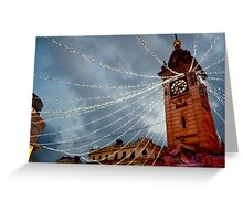Brighton Clock Tower with Lights Greeting Card