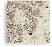 Retro Tokyo Map Canvas Print