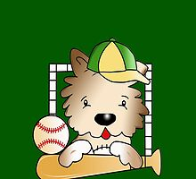 Baseball Doggie by Rainy