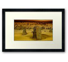 Golden desert glow Framed Print