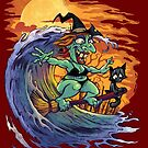 Witch At the Beach by Brian Allen
