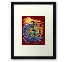 Witch At the Beach Framed Print