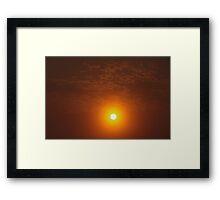 Smokey Sunrise Framed Print