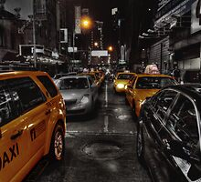 New York Cabs by Sam  Parsons