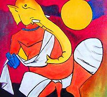 Ganesha..! Inspiration from Hussain's work 01 by Rahul Kapoor