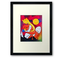 Ganesha..! Inspiration from Hussain's work 01 Framed Print