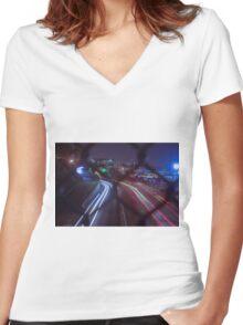 Flux  Women's Fitted V-Neck T-Shirt