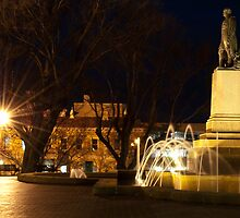 Franklin Square, Hobart, Tasmania. by Lewis Farrell