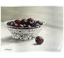 Bowl Full of Cherries Poster