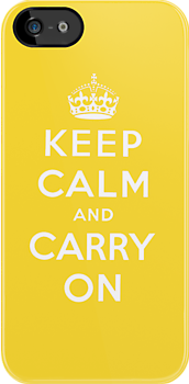 Keep Calm - Yellow by UrbanDog