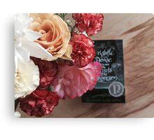 Flower Book Canvas Print