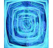 Blue Maze Fractal (iPhone Case) by judygal