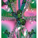 Butterfly's & Bubbles Fractal (iPhone case) by judygal