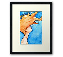 Stargazing on a Windy Night Framed Print