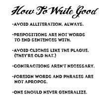 How to write good by BigFluffyFozzie