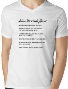 How to write good Mens V-Neck T-Shirt