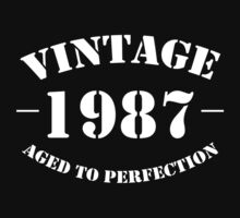 Vintage 1987 birthday  by personalized