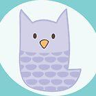 Pastel Purple Owl by heatherwallace