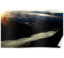 Sunflare over Juneau Poster