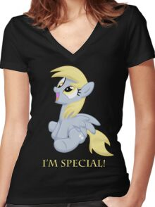 I'm special! Women's Fitted V-Neck T-Shirt