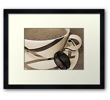 Frothy Coffee Framed Print