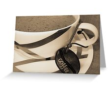 Frothy Coffee Greeting Card