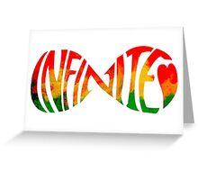 Infinite love jamaica heart Greeting Card