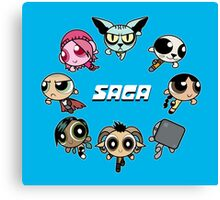 Saga Puffs Parody Canvas Print