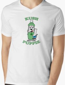 Kush Puppie Mens V-Neck T-Shirt