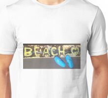 BEACH Shell Sandals  Unisex T-Shirt