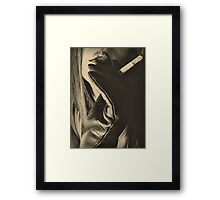 Smoke & Leather Framed Print