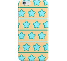 Blue/Orange Star Pattern iPhone Case/Skin