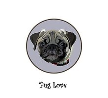 Pug Love (iPhone case) by jewelskings