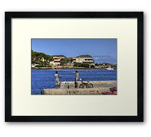 Honest, it was this size Framed Print