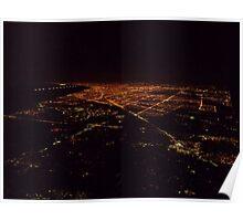 Nightime Cityscape Poster