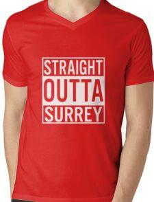 Straight Outta Surrey Mens V-Neck T-Shirt