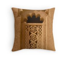 Traditional Arabic Window Throw Pillow