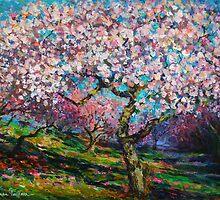 Impressionistic Spring Blossoms landscape Svetlana Novikova by Svetlana  Novikova